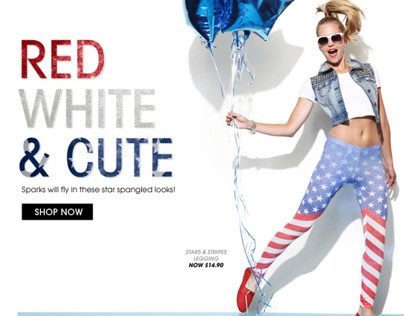 Wet Seal - Red, White & Cute Email