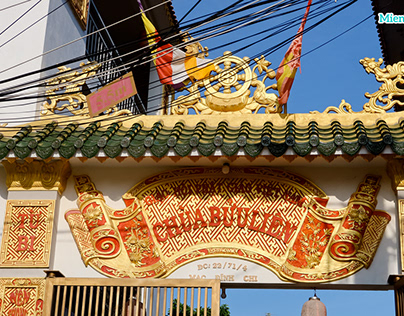 Buu Lien Pagoda in Cantho, Vietnam