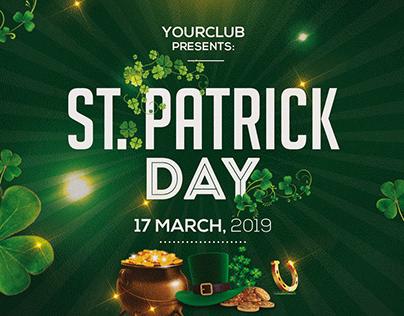 Free St. Patricks PSD Flyer Template