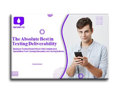Google banner ads design for business texting app