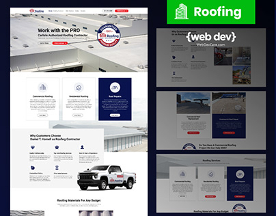 Daniel Roofing Company design by {web Lakeland}