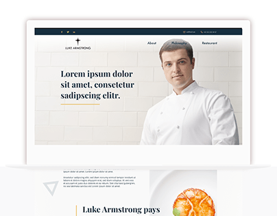 ux/ui for chef's website