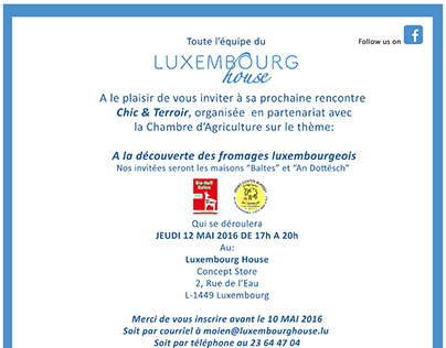 Invite Design- Luxembourg House