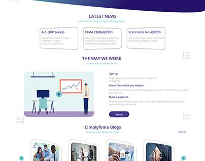 Foreign Exchange Landing Page