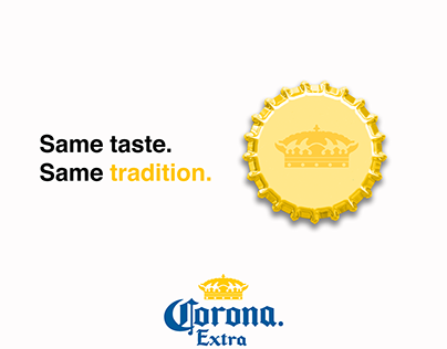 Corona Mock-up with product re-branding