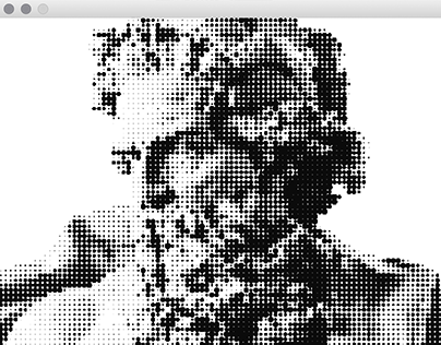 Interactive Busts (); Processing Studies