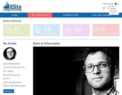 Ellite College Recruitment - Web App UI/UX