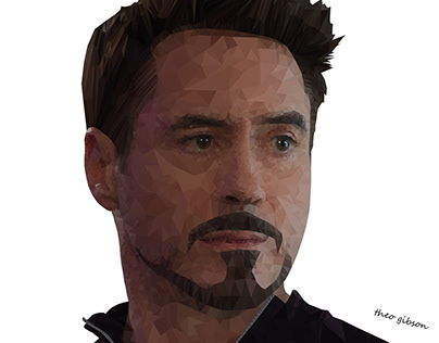 Low Poly - Tony Stark