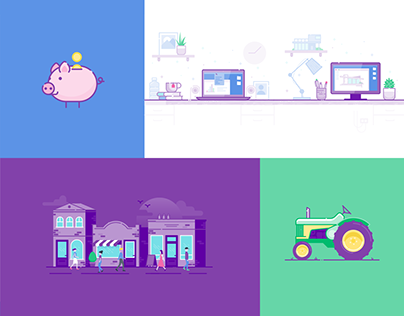MYOB Illustration Suite – buildings, characters & icons