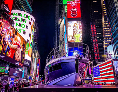 A Yacht in Times Square