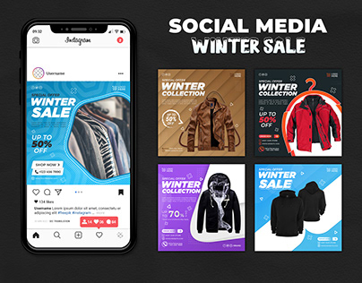 Winter Sale Social Media Post Template
