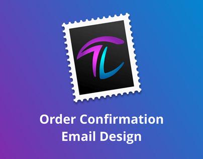 Order Confirmation Email Design