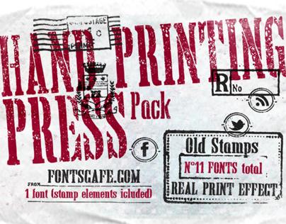 """Hand Printing Press"" fonts"