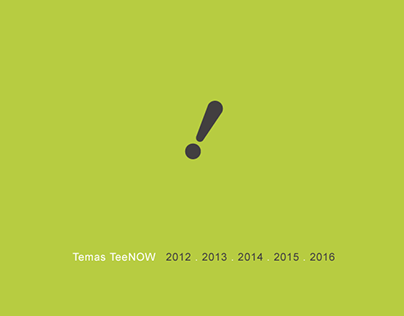 Temas TeeNOW ao longo dos anos