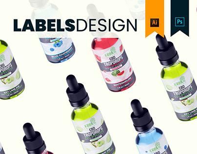 Kronic Releaf CBD - Labels Design