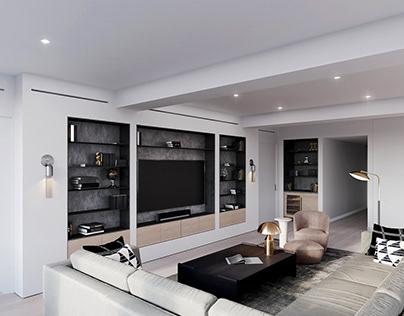 Interior CGI * New York, Murray Street Loft
