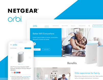 Netgear Orbi Website Design