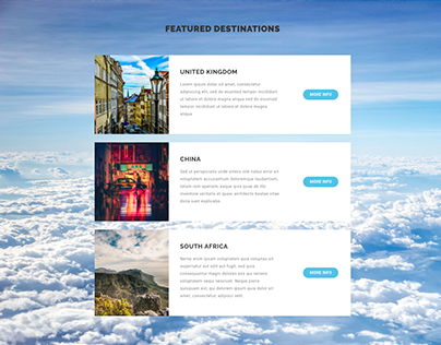First Wordpress Website: Travel Website