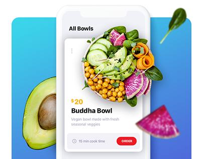 Healthy food delivery app
