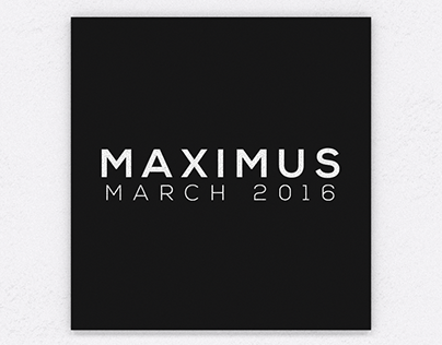 Maximus March 2016 Collection