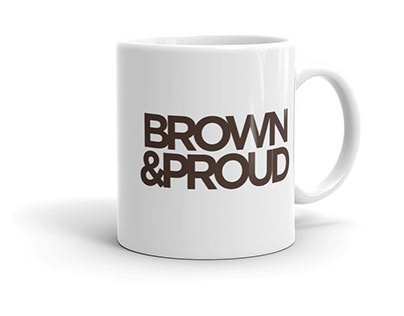 Sample Mug for Brown&Proud Branding