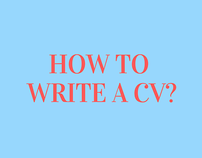 Personal Work - Original Song: How to Write a CV