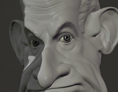Caricature de Mr Nicolas Sarkozy President 2004-2007