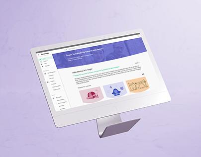 SustainOnline, responsive design for elearning platform
