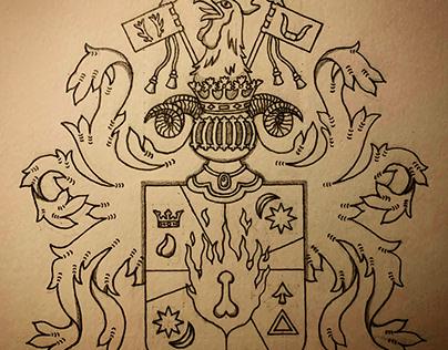Heraldic Shield: Masculine Spirit