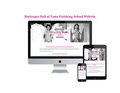 Burlesque Hall of Fame Finishing School Website