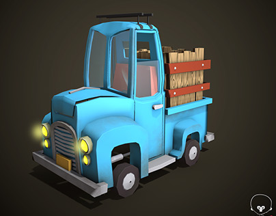 3D Low poly truck