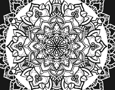 mandala black background