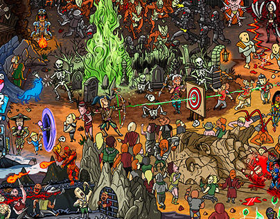 "Mortal Kombat ""Where's Scorpion?"" illustration"
