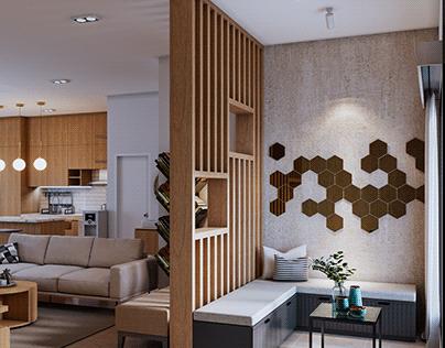 Interior Rumah Gaya Modern Kontemporer ~ Bandung