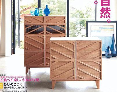 Cabinets & desk for Bellemaison (Japan)