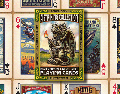 Matchbox Label Playing Cards