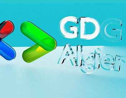 3D logo of GDG Algiers (Glass mode)