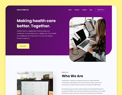 HealthMate - Landing Page