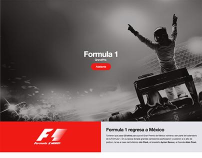 Formula 1 Landing Page