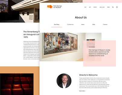 Palm Springs Art Museum Identity + Website Design