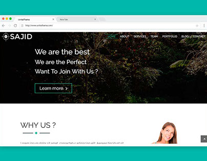 SAJID – One page HTML template