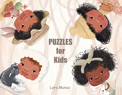 Puzzles for Kids, age 3-6 / Children's illustrations