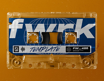 Retro Cassette Tape Photoshop Mockup