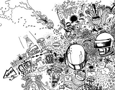 Mozambique Holiday Doodle: Illustration