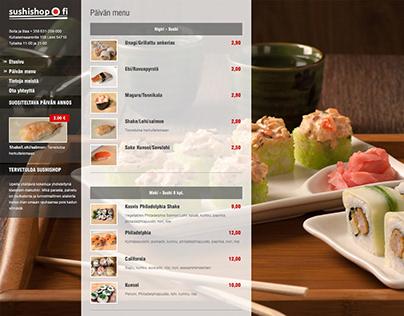 сайт для доставки суши