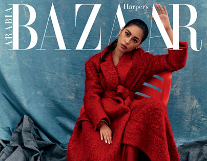 Mina El Hammani for Harper's Bazaar Arabia, October 20.