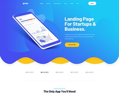 Gimpo - App Landing Page PSD Template