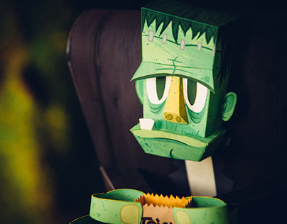 Frankenstein's Monster Paper Sculpture