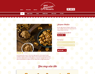 Web Design- Great American Popcorn