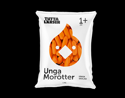 Tutta Larsen brand identity, merch and package design